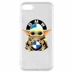 Чохол для iPhone SE 2020 Baby yoda bmw