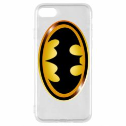 Чохол для iPhone SE 2020 Batman logo Gold