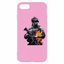Чехол для iPhone SE 2020 Battlefield Warrior
