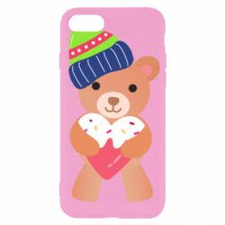 Чехол для iPhone SE 2020 Bear and gingerbread
