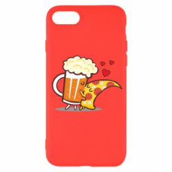 Чохол для iPhone SE 2020 Beer and Pizza were kissed