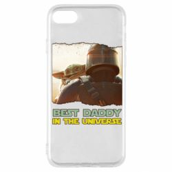 Чехол для iPhone SE 2020 Best daddy mandalorian