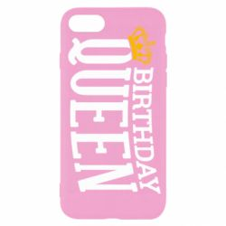 Чехол для iPhone SE 2020 Birthday queen and crown yellow