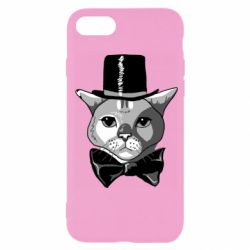 Чохол для iPhone SE 2020 Black and white cat intellectual
