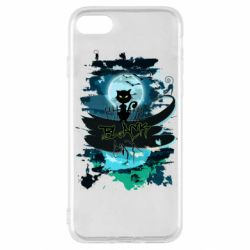 Чехол для iPhone SE 2020 Black cat art
