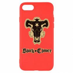Чехол для iPhone SE 2020 Black clover logo