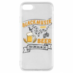 Чехол для iPhone SE 2020 Black music and bear you can call me sir