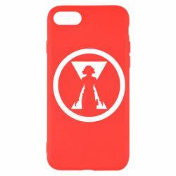 Чохол для iPhone SE 2020 Black Widow logo