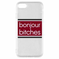 Чехол для iPhone SE 2020 Bonjour bitches