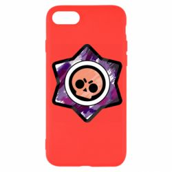 Чехол для iPhone SE 2020 Brawl logo purple