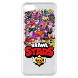 Чехол для iPhone SE 2020 Brawl Stars all characters art