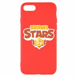 Чехол для iPhone SE 2020 Brawl Stars logo orang and yellow