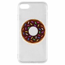 Чохол для iPhone SE 2020 Brown donut on a background of patterns