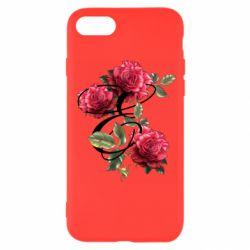 Чехол для iPhone SE 2020 Буква Е с розами