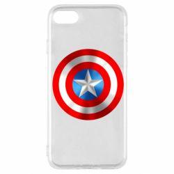Чехол для iPhone SE 2020 Captain America 3D Shield