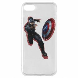 Чехол для iPhone SE 2020 Captain america with red shadow