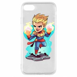 Чехол для iPhone SE 2020 Captain marvel hovers in the air