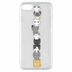 Чехол для iPhone SE 2020 Cat breeds