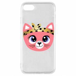 Чехол для iPhone SE 2020 Cat pink