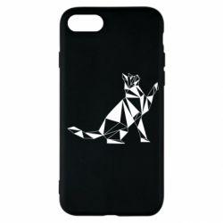 Чохол для iPhone SE 2020 Cat polygon