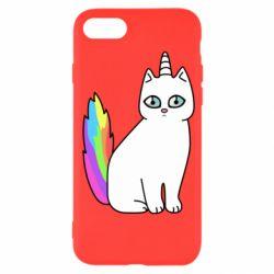 Чехол для iPhone SE 2020 Cat Unicorn