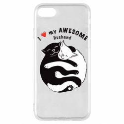 Чехол для iPhone SE 2020 Cats and love