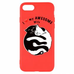 Чехол для iPhone SE 2020 Cats with a smile