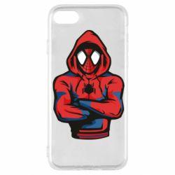 Чохол для iPhone SE 2020 Людина павук в толстовці