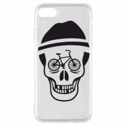 Чехол для iPhone SE 2020 Череп велосипедиста