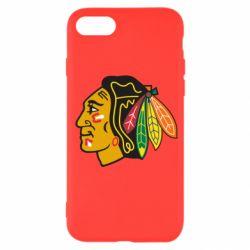 Чехол для iPhone SE 2020 Chicago Black Hawks