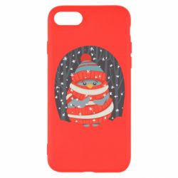 Чехол для iPhone SE 2020 Christmas Sweet Penguin