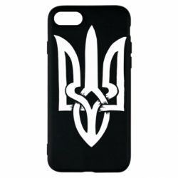 Чехол для iPhone SE 2020 Coat of arms of Ukraine torn inside