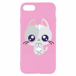 Чохол для iPhone SE 2020 Cute cat with big eyes