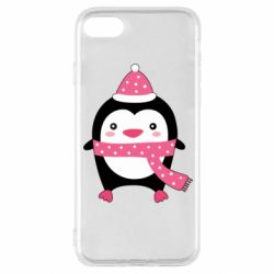 Чехол для iPhone SE 2020 Cute Christmas penguin