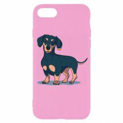 Чехол для iPhone SE 2020 Cute dachshund