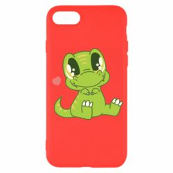 Чехол для iPhone SE 2020 Cute dinosaur