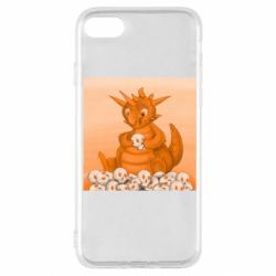 Чохол для iPhone SE 2020 Cute dragon with skulls