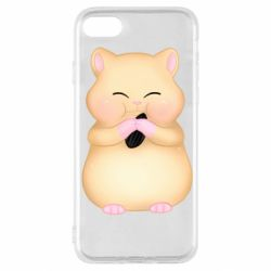 Чохол для iPhone SE 2020 Cute hamster with sunflower seed