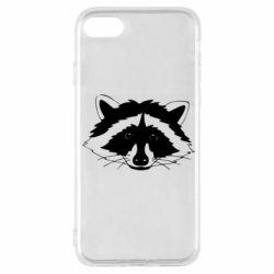 Чохол для iPhone SE 2020 Cute raccoon face