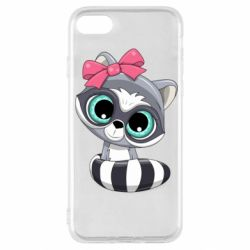 Чехол для iPhone SE 2020 Cute raccoon