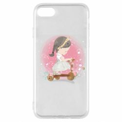 Чехол для iPhone SE 2020 Cute Scooter Girl