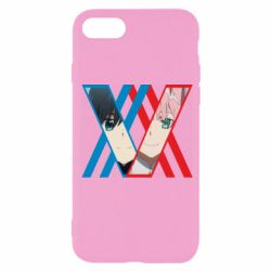 Чехол для iPhone SE 2020 Darling in the franxx Hiro and 002