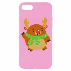 Чехол для iPhone SE 2020 Deer in a scarf