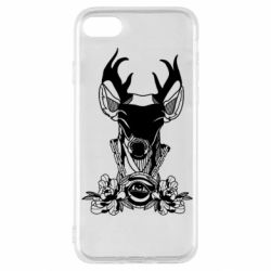 Чохол для iPhone SE 2020 Deer in chains with flowers