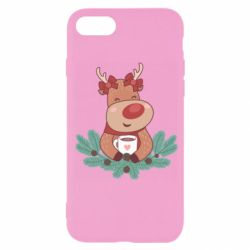 Чехол для iPhone SE 2020 Deer tea party girl
