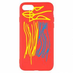 Чохол для iPhone SE 2020 Дитячий малюнок прапор України