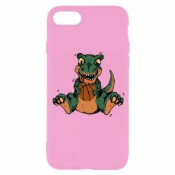 Чехол для iPhone SE 2020 Dinosaur and basketball