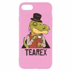 Чохол для iPhone SE 2020 Dinosaur with tea