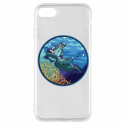 Чехол для iPhone SE 2020 Diving and the underwater world