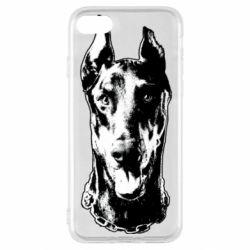 Чохол для iPhone SE 2020 Доберман чорний
